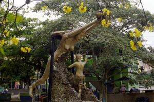 A statue in Segovia